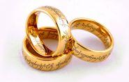 Кольцо Всевластия (Карбид Вольфрама) в золотом тоне оригинальное + оригинальный подарочный футляр The Lord of the Rings