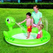 """Интерактивный надувной детский мини-бассейн с разбрызгивателем """"Черепаха"""""""
