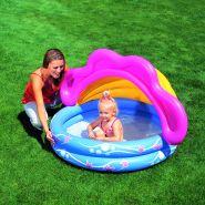 Детский бассейн круглый надувной с отстегиваемым тентом